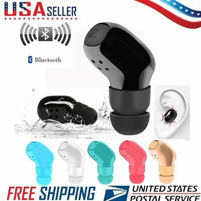 Mini Wireless In-Ear Invisible Sports V4.1 Bluetooth Earphone Earbud Headset USA