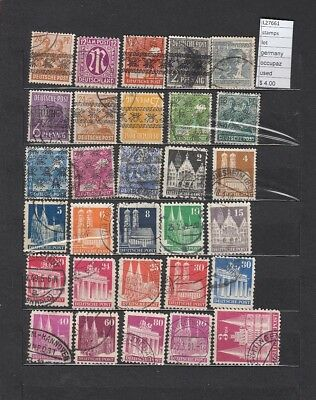 Stamps Lot  Germany Allied Occupation Used  (L27661)