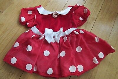 Disney Store Exclusive Red Minnie Mouse Dress Baby Girl 12-18 Months 1 Year