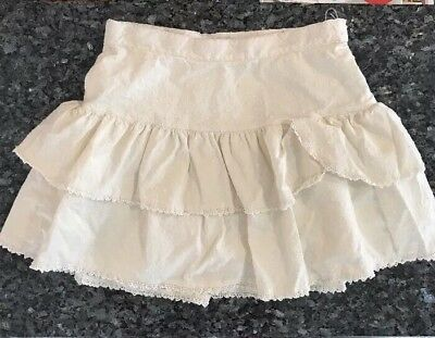 GAP KIDS Girl's White Embroidered Tiered Skirt Size 14 Large