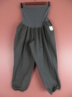 Motherhood Kohl's Oh baby Maternity XL Dark Gray Cotton Capris New with Tag