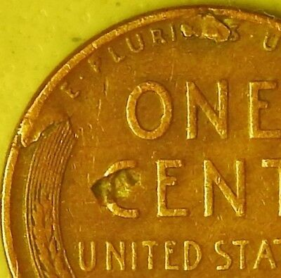 1945 D Lincoln Wheat Penny, Cent, (Lamination) Error Coin , Am-366