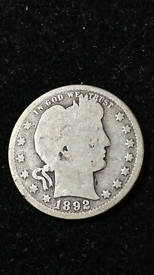 1892-s Barber Quarter. First Year