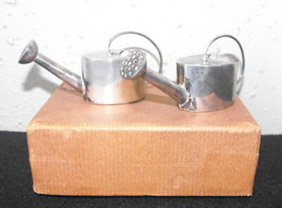 Matched Pair of Vintage Sterling Silver Vermouth Dispenser Watering Cans .925