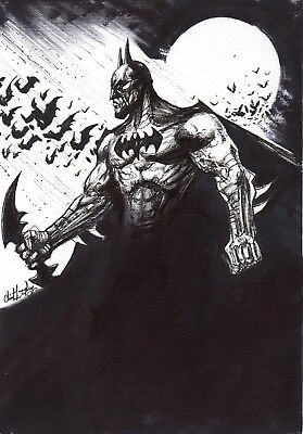 Batman Original Hand Drawn Art Clint Langley