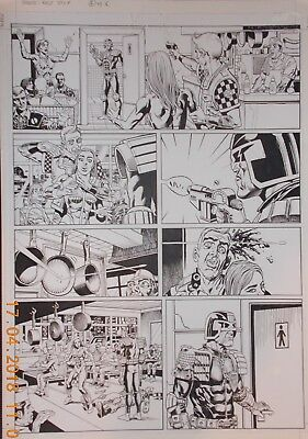 2000AD Judge Dredd Original Art by Chris Weston