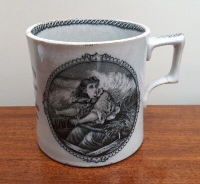 19thC Transfer Commemorative Mug Grace Darling Northumbrian Heroine 1815-1842