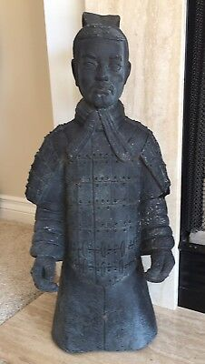 "Garden Statue indoor/outdoor Ancient Chinese Warrior Reproduction 25""H"
