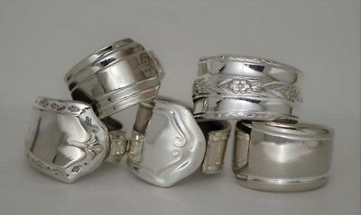 Vintage Silver Spoon Ring Lot