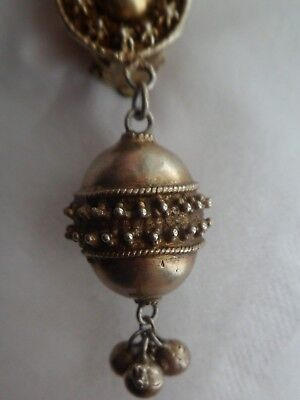 Byzantine-Style Antique Silver Egg-Pendant Brooch. All Silver 925.