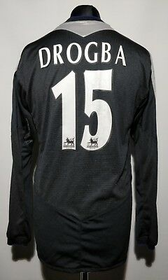 83b3a1aed38 Didier DROGBA  11 Chelsea Long Sleeve Away Football Shirt Jersey 2008 09 (L