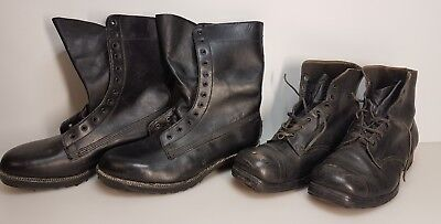 2 Pairs Of Vintage Australian Military Army Wwii & Vietnam War Leather Boots