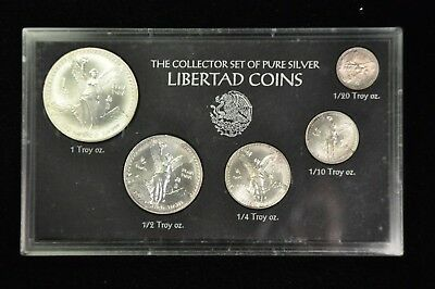 1992 Collectors Set of Pure Silver Libertad Coins -1.95 Silver Ounces BU /Z5