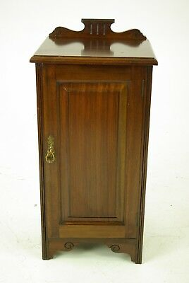 Antique Nightstand, Mahogany Bedside Table, Scotland 1880, B1117