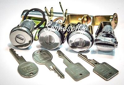 Ignition Barrel Door Lock & Boot Holden HK HT HG New Set of 4 With Keys