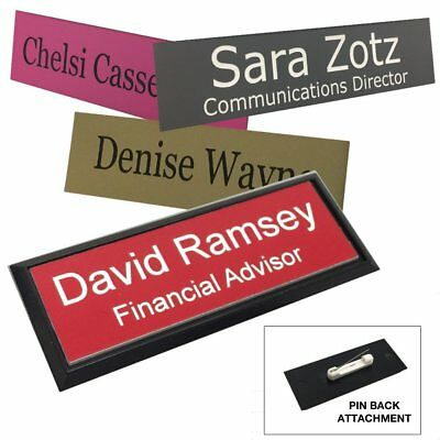 "Personalized 1"" X 3"" Name Tag/Badge with Frame"