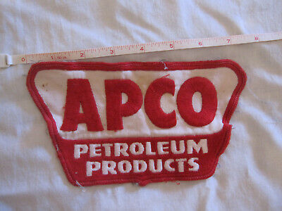 Apco Petroleum Products 7.5 inch vintage advertising patch
