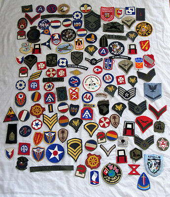 Wwii Korean War Vietnam War + Lot Of 130 Military Patches Cloth Insignias Lot 2