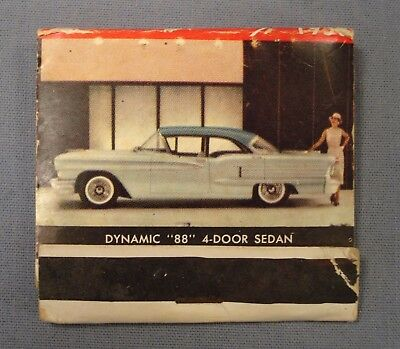 Vtg 1958 Oldsmobile Dynamic 88 Photo Match Cover. Whitfield Motor Co. Fay, Ark