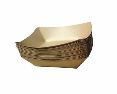 """URPARTY - 50 pcs Classic Brown Disposable Paper Food Serving Tray 7"""" x 5"""" x 1..."""