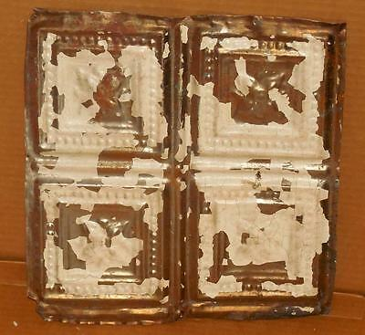 """Vintage Early 1900's 12"""" x 12"""" Ceiling Tiles Antiques Ceiling Tins Salvage #6"""