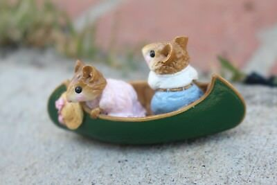 Wee Forest Folk Mice on Row Boat 1981 William Peterson