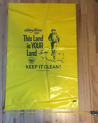 This Land Is Your Land Keep It Clean Johnny Horizon large litter bag garbage BLM