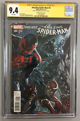 Amazing Spider-Man #9 Cgc Ss 9.4 Variant Cover 1:25 Signed By Gabriele Dell'otto