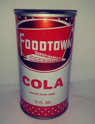 Foodtown Cola Pull Tab Soda Can - Edison, Nj!!!