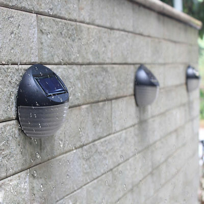 LED Solar Power Wall Mount Light Outdoor Waterproof Garden Yard Fence Lamp