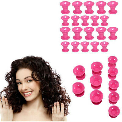 30PCS Hair Care Rollers Curlers Silicone No Clip Style Soft Magic DIY Tool UB
