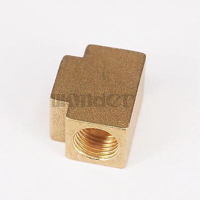 """1/4"""" BSP Tee 3 Ways Brass Pipe fittings Equal Female Connector"""