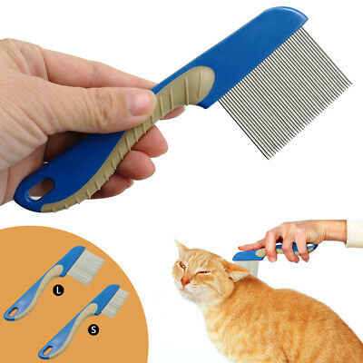 Dog Puppy Cat Flea Comb Trimmer Grooming Cleaning Hair Brush Shedding Tools