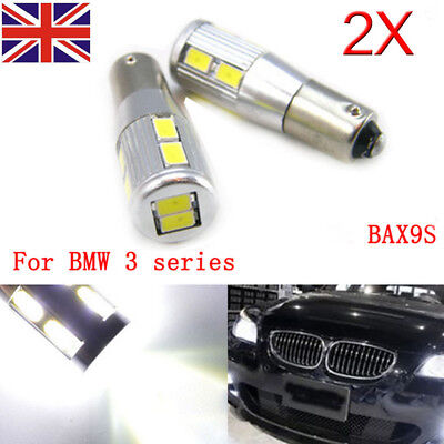 2x BAX9S H6W Sidelights LED set kit error free canbus Bulb 10SMD For BMW F30 F20