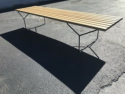Beautiful Mid century modern Bertoia style white oak bench or coffee table MCM
