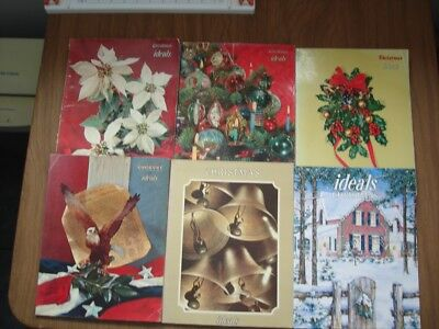 Lot Of 6 Vintage Christmas And Country Ideals Magazines