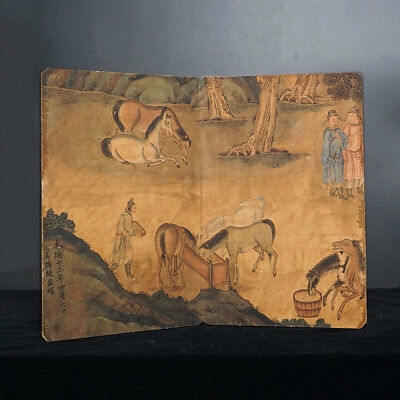 Excellent Old Chinese Horse Portraits Painting Artwork Books For Art Collection