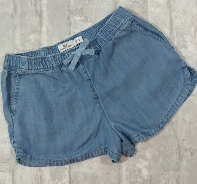 Vineyard Vines Girls Small Pull on Shorts with Pockets Jean Color