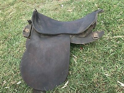 Authentic Anzac Lighthorse Standard Issue Saddle- Genuine WW1 Collectable