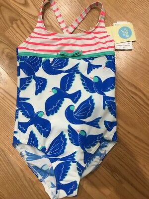 Nwt Mini Boden agave Mini Tropical Bird Swimsuit Size 4-5Y