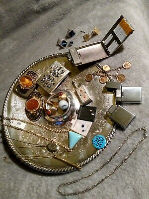 Cool Lot of Vintage, 925, gold filled & jewels Mixed Jewelry, Buckles, and more