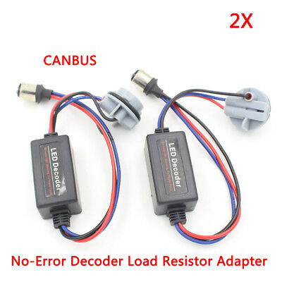 1157 BAY15D P21/5W LED Bulbs Canbus No-Error Decoder Load Resistor Adapter