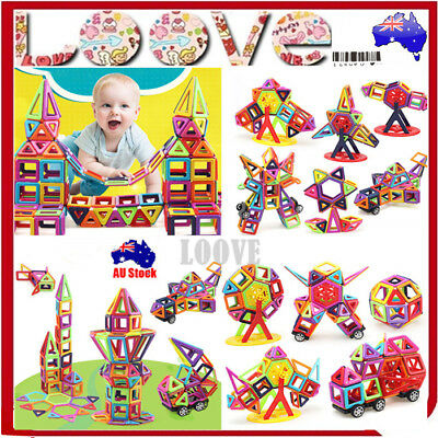 64/113/166pcs Kids Magnetic Blocks Building Toys Magnet Gift Puzzle Educational