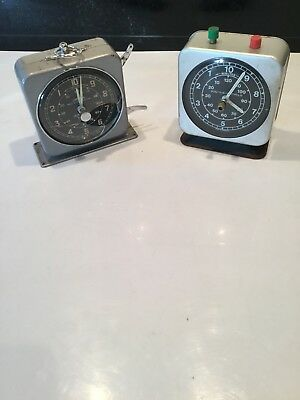 Vintage Interval Clocks For Spares Or Repair