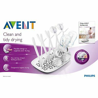 Philips Avent Drying Rack For Clean And Tidy Drying Fits 8 Baby Feeding Bottles