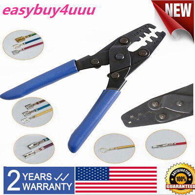 22-10AWG Crimping Tool Molex-style Wire Stripper 200mm With 5 Different Size New