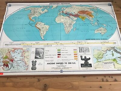 Vintage Large Canvas Map of 'Ancient Empires to 200 B.C.'