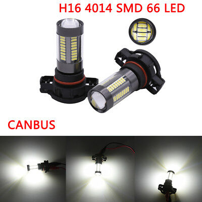 H16 5202 4014SMD 66LED CANBUS Car Fog Brake light Turn signal For AUDI A3 8P 12V