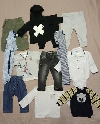 Baby boys clothes size 0 bulk pack with 12 items inc Bardot Zara and Next