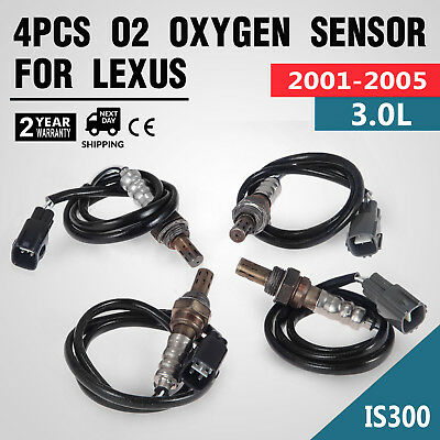 4PCS O2 OXYGEN Sensors For Lexus IS300 Up/Downstream 234-4015 3 0L 2001-2005